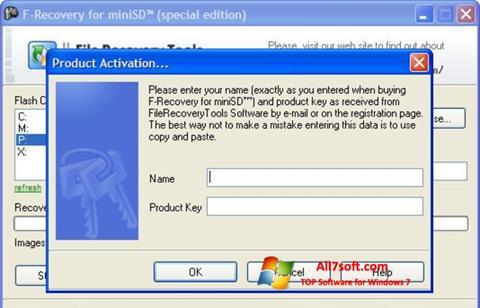 Skjermbilde F-Recovery SD Windows 7