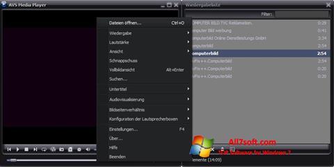 Skjermbilde AVS Media Player Windows 7
