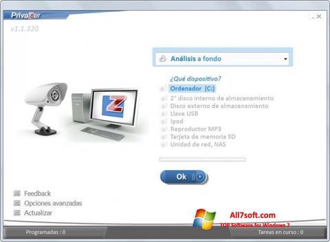 Skjermbilde PrivaZer Windows 7