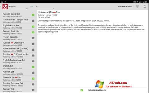 Skjermbilde ABBYY Lingvo Windows 7