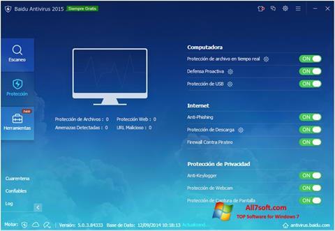 Skjermbilde Baidu Antivirus Windows 7