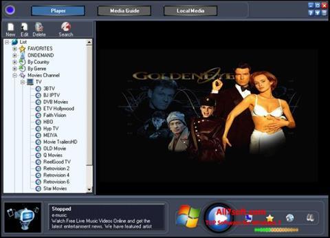 Skjermbilde Online TV Live Windows 7