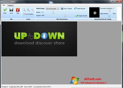 Skjermbilde SmartDeblur Windows 7
