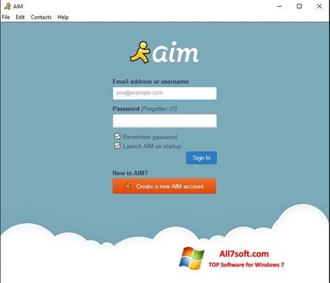Skjermbilde AOL Instant Messenger Windows 7