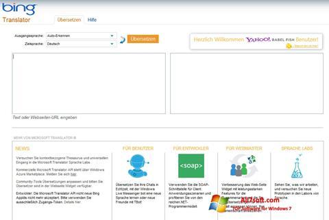 Skjermbilde Bing Translator Windows 7
