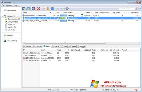 Skjermbilde BitTorrent Windows 7