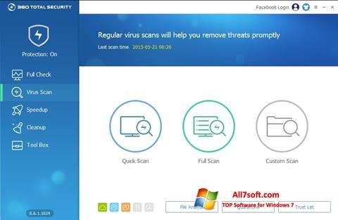 Skjermbilde 360 Total Security Windows 7