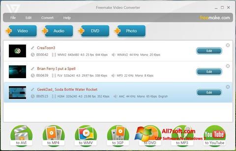 Skjermbilde Freemake Video Converter Windows 7
