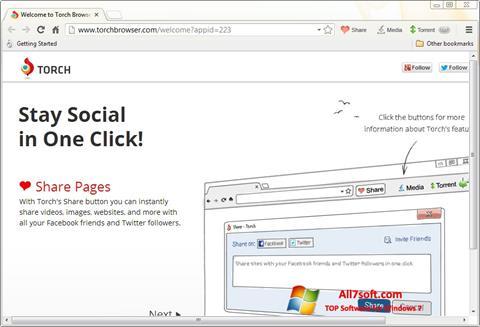 Skjermbilde Torch Browser Windows 7