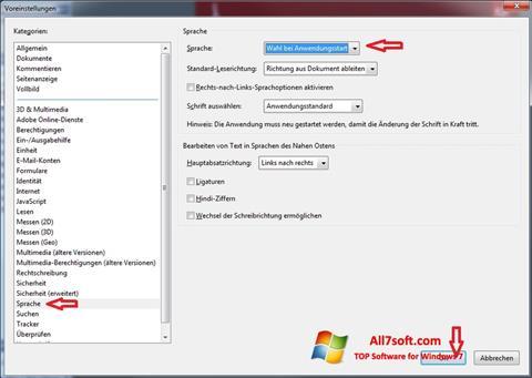 Skjermbilde Adobe Reader Windows 7