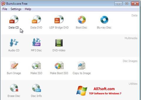 Skjermbilde BurnAware Free Windows 7