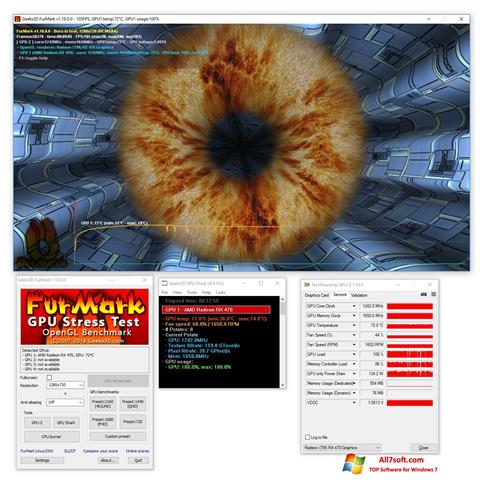 Skjermbilde FurMark Windows 7