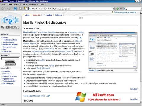 Skjermbilde Mozilla Firefox Windows 7