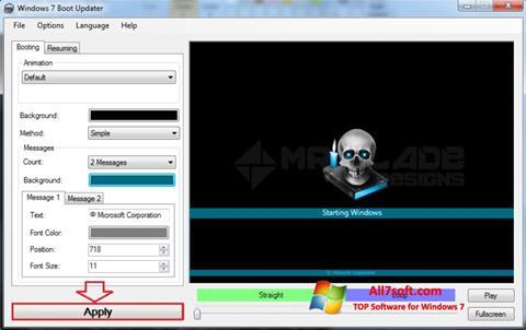 Skjermbilde Windows 7 Boot Updater Windows 7
