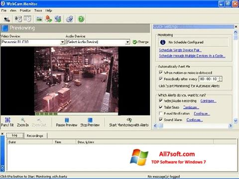 Skjermbilde WebCam Monitor Windows 7