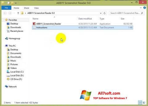 Skjermbilde ABBYY Screenshot Reader Windows 7