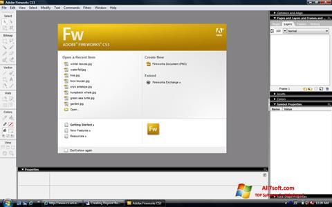 Skjermbilde Adobe Fireworks Windows 7