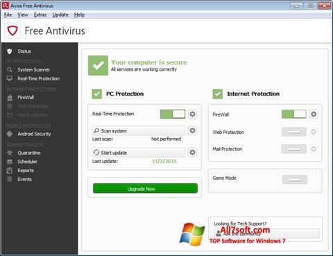 Skjermbilde Avira Free Antivirus Windows 7