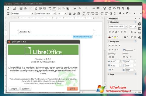 Skjermbilde LibreOffice Windows 7