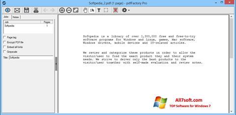 Skjermbilde pdfFactory Pro Windows 7