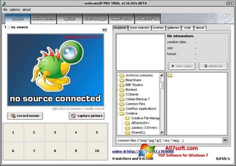 Skjermbilde webcamXP Windows 7