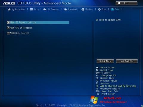 Skjermbilde ASUS Update Windows 7