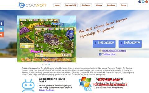 Skjermbilde Coowon Browser Windows 7