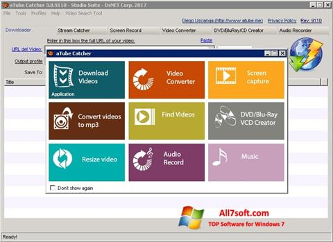 Skjermbilde aTube Catcher Windows 7