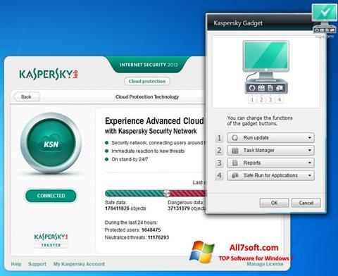 Skjermbilde Kaspersky Internet Security Windows 7