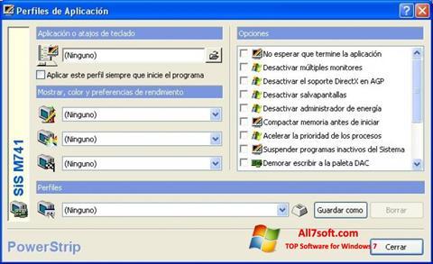 Skjermbilde PowerStrip Windows 7