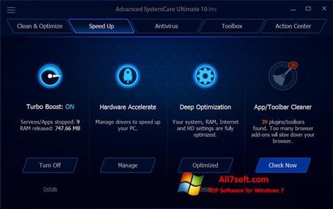 Skjermbilde Advanced SystemCare Ultimate Windows 7