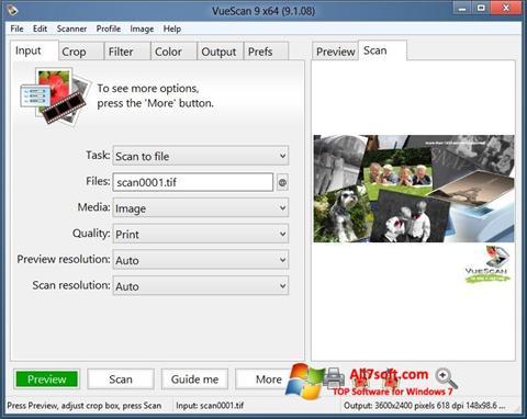 Skjermbilde VueScan Windows 7