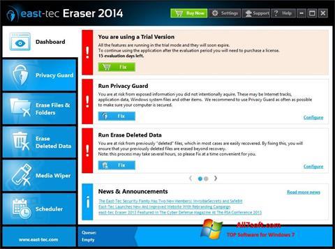 Skjermbilde East Tec Eraser Windows 7
