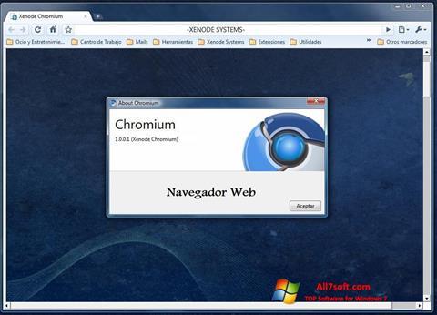 Skjermbilde Chromium Windows 7