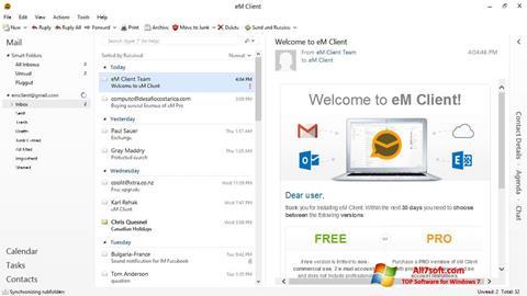 Skjermbilde eM Client Windows 7