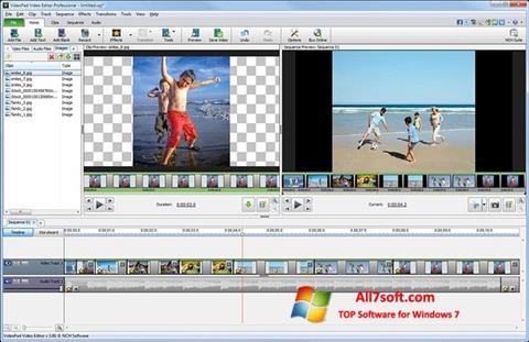 Skjermbilde VideoPad Video Editor Windows 7