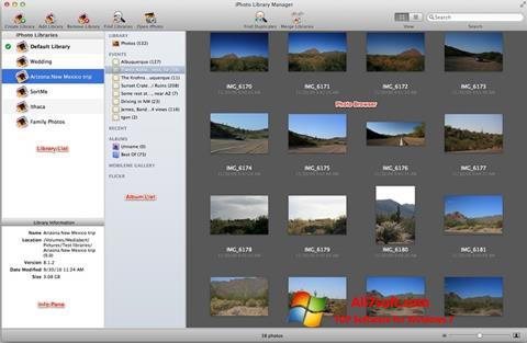 Skjermbilde iPhoto Windows 7