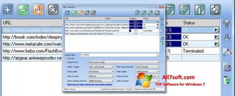 Skjermbilde VideoGet Windows 7