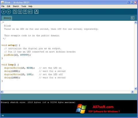 Skjermbilde Arduino Windows 7