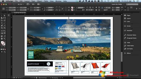 Skjermbilde Adobe InDesign Windows 7