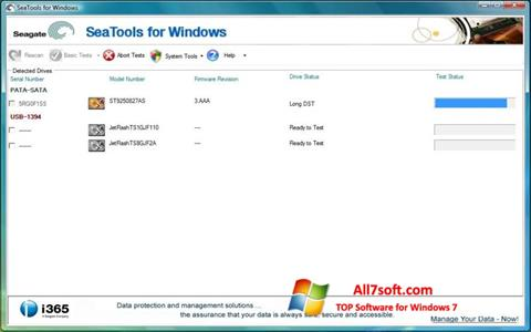 Skjermbilde Seagate SeaTools Windows 7