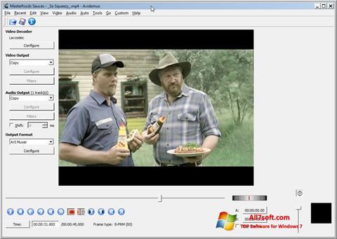 Skjermbilde Avidemux Windows 7