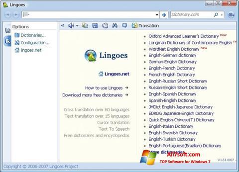 Skjermbilde Lingoes Windows 7