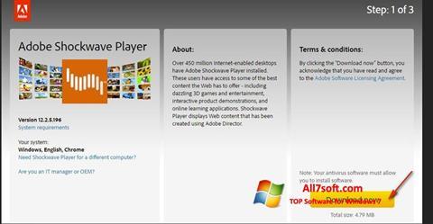 Skjermbilde Adobe Shockwave Player Windows 7