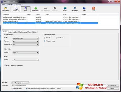 Skjermbilde XMedia Recode Windows 7