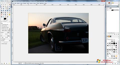 Skjermbilde GIMP Windows 7