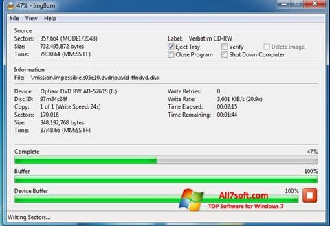 Skjermbilde ImgBurn Windows 7