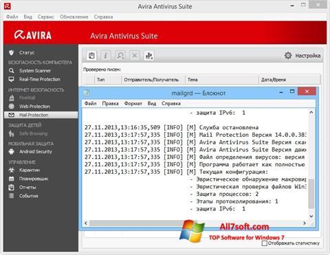 Skjermbilde Avira Windows 7