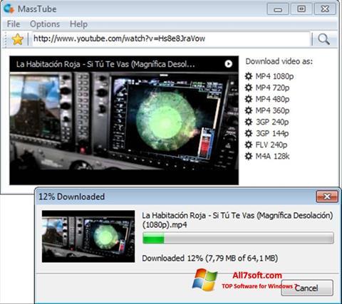 Skjermbilde MassTube Windows 7