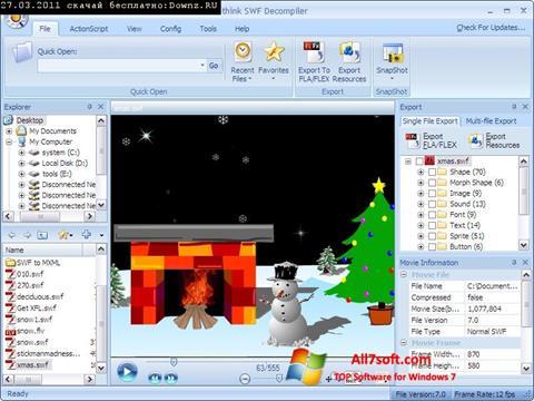 Skjermbilde Sothink SWF Decompiler Windows 7
